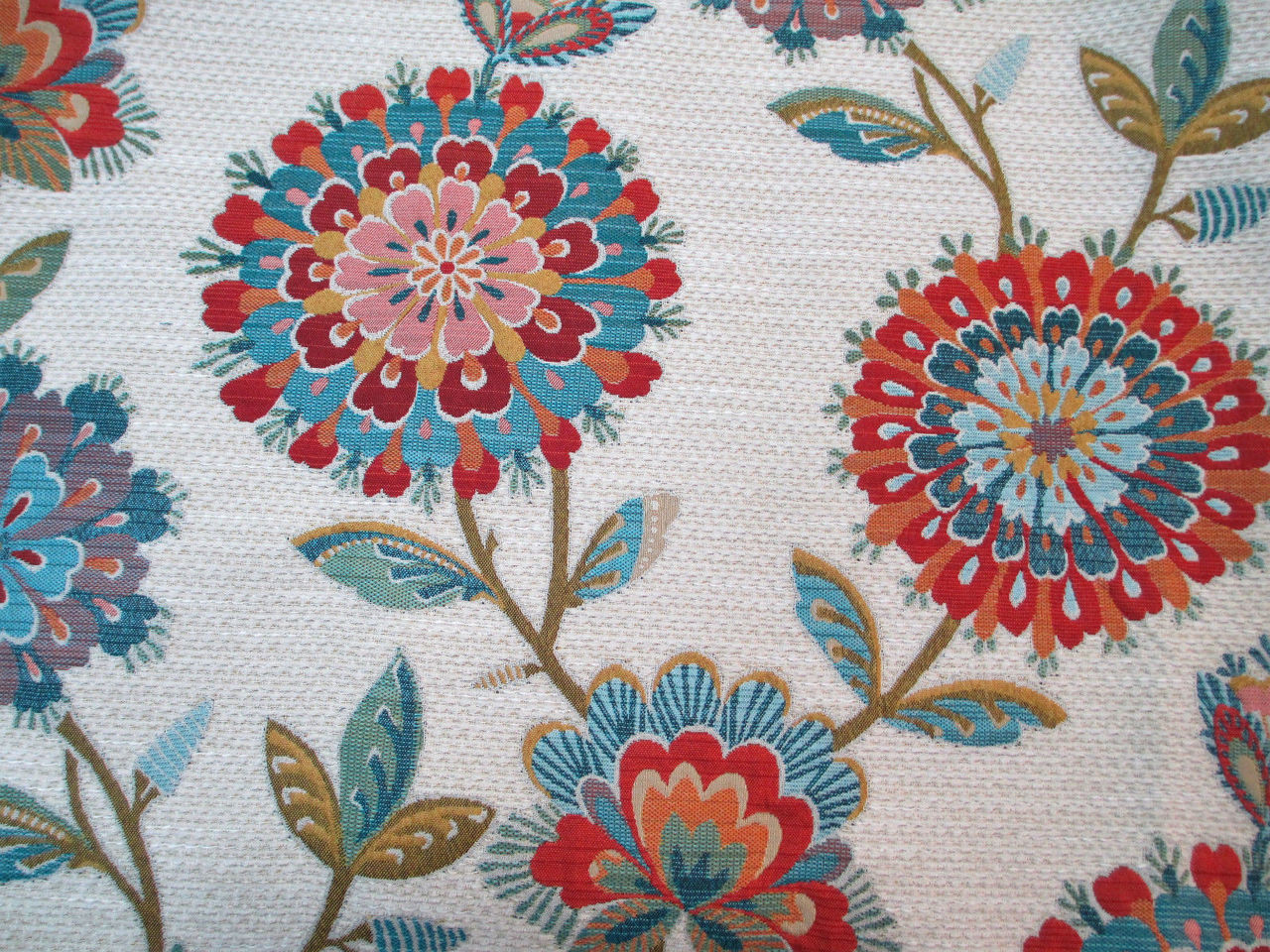 Richloom Upholstery Drapery Periwinkle Jewel Chenille Floral