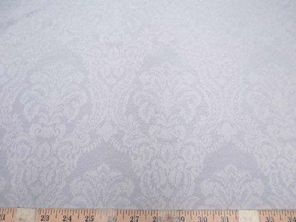 Discount Fabric 75 inches wide Drapery Jacquard Damask Floral Dove Gray 48DR