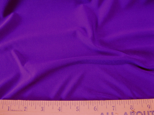 Discount Fabric Lycra Spandex 4 way stretch Solid Royal Purple 914LY