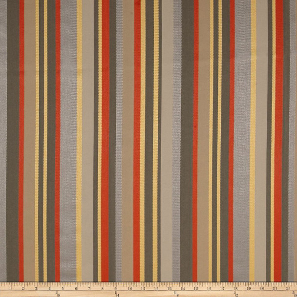 Discount Fabric Richloom Indoor Outdoor Olefin Kauai Graphite Stripe 35MM