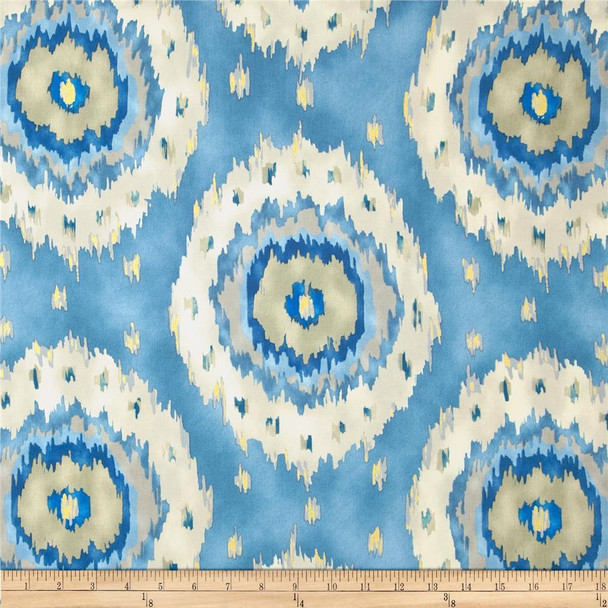 Discount Fabric Richloom Upholstery Drapery Alhambra French Ikat Medallion 26NN