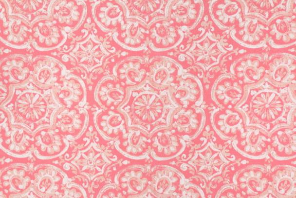 Discount Fabric Richloom Solarium Indoor Outdoor Westphalia Coral Floral 34NN