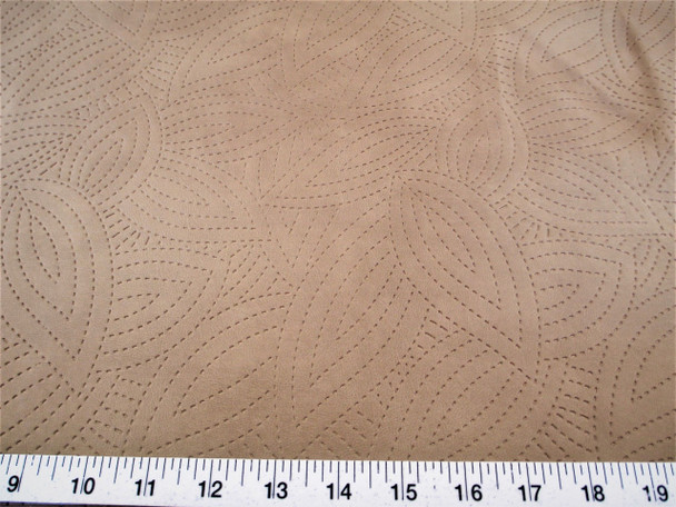 Discount Fabric Richloom Tough Faux Leather Pleather Vinyl Kensington Taupe 41SS