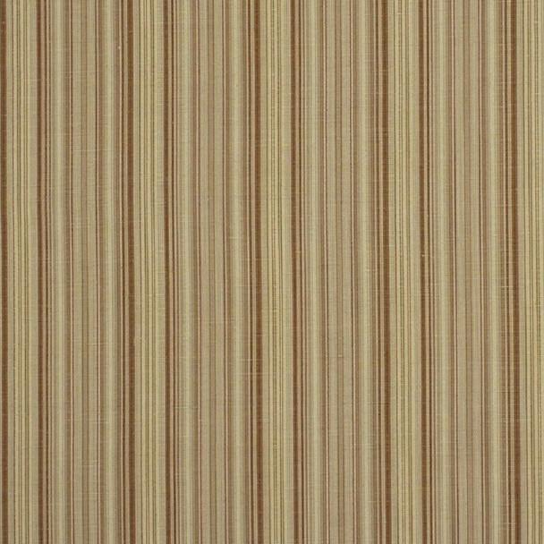 Fabric Robert Allen Beacon Hill Hancock Stripe Teak Linen Wool Drapery 12HH