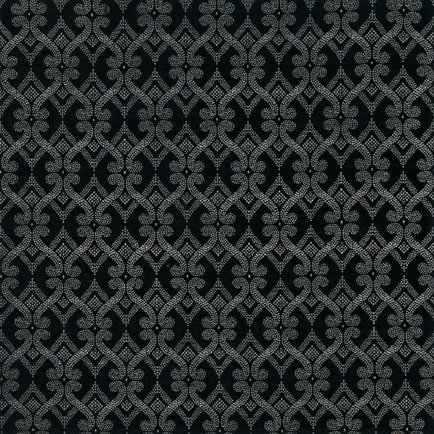Fabric Robert Allen Beacon Hill Fenerty Black and White Dots Upholstery 40*J
