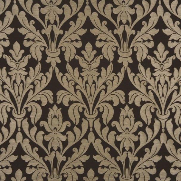 Fabric Robert Allen Beacon Hill Damask Raffia Walnut Upholstery Drapery 20II