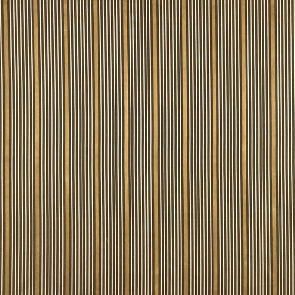 Fabric Robert Allen Beacon Hill Kelly Stripe Umber 100% Silk Stripe Drapery 34JJ