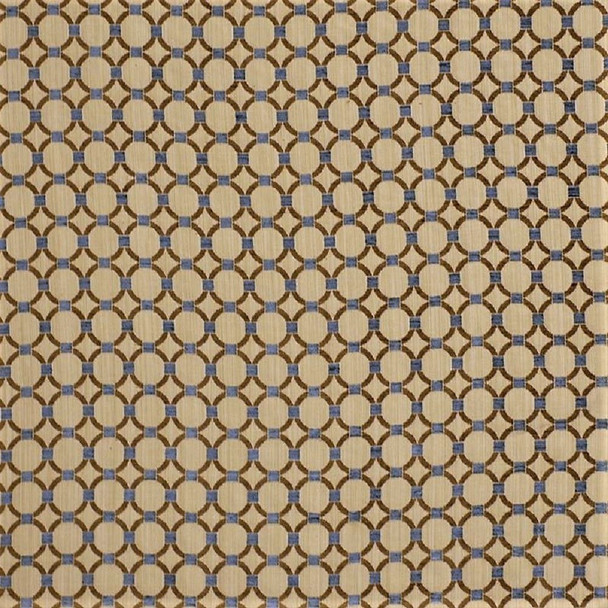 Fabric Robert Allen Beacon Hill Anillos Teak Embroidered Tapestry Circles 40JJ