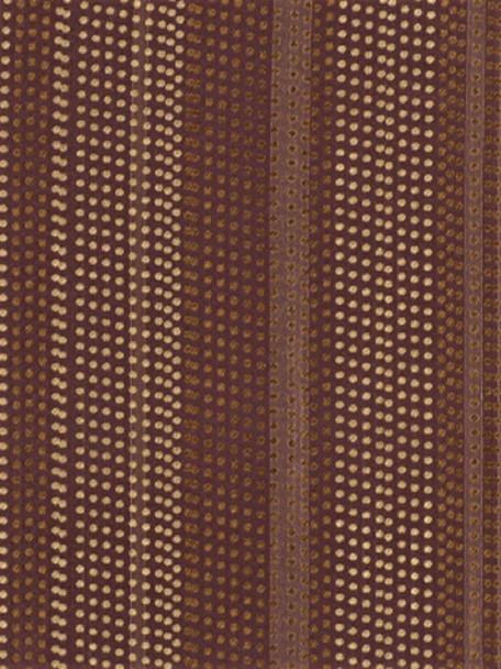 Fabric Robert Allen Beacon Hill Dotted Stripes Blackberry 100% Silk Drapery 21*J