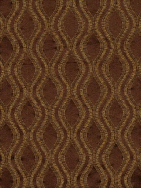 Fabric Robert Allen Beacon Hill Ovalos Umber Brown Silk Upholstery Drapery 24HH