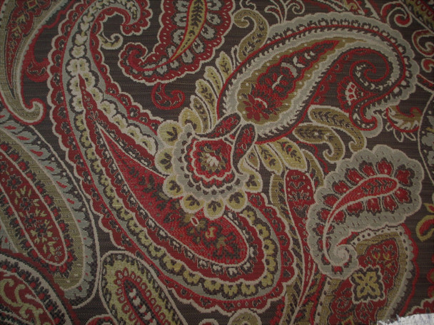 Fabric Richloom Upholstery Drapery Fenmore Spice Paisley Jacquard Tapestry EE47