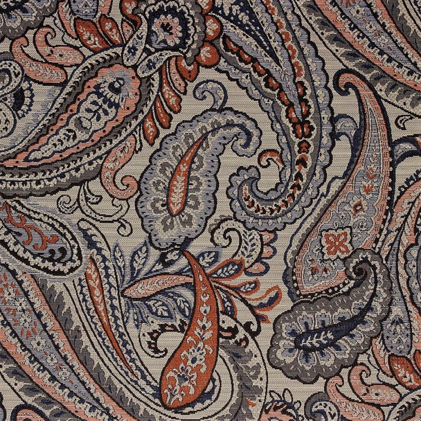 Fabric Richloom Upholstery Drapery Fenmore Rustic Paisley Jacquard Tapestry 15GG