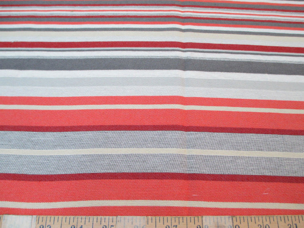 Discount Fabric Richloom Upholstery Drapery Bannister Coral Stripe 40LL