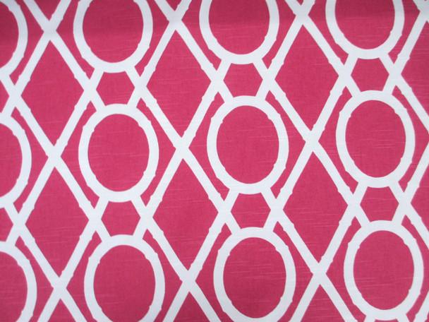 Discount Fabric Robert Allen Upholstery Drapery Lattice Bamboo Raspberry 22EE