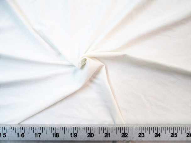 Discount Fabric Nylon Lycra Spandex 4 way stretch Eggshell White 860LY