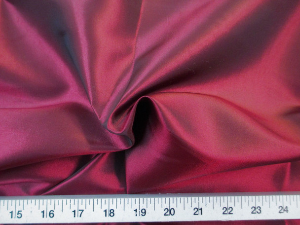 Discount Fabric Two Tone Iridescent Apparel Taffeta Burgundy 01Taf