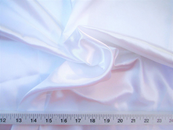 Discount Fabric Charmeuse Silky Bridal Satin Apparel White 11Taf