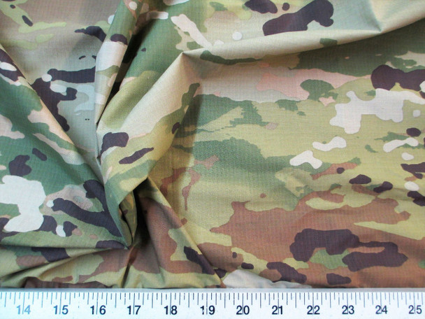 Discount Fabric Ripstop Rip Stop Nylon Water Resistant Woodland Camouflage 32RS