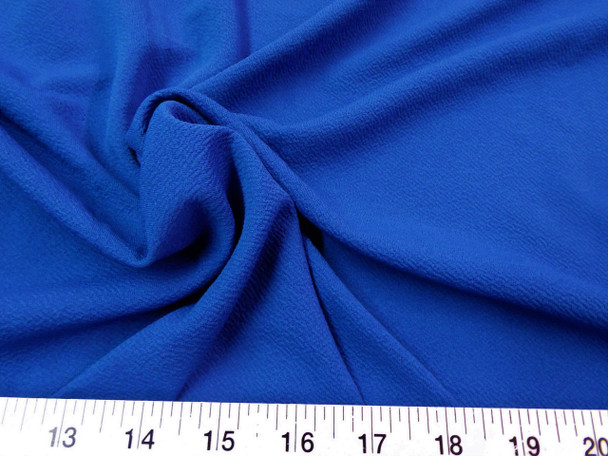 Discount Fabric Liverpool Textured 4 way Stretch Scuba Royal Blue 05LP