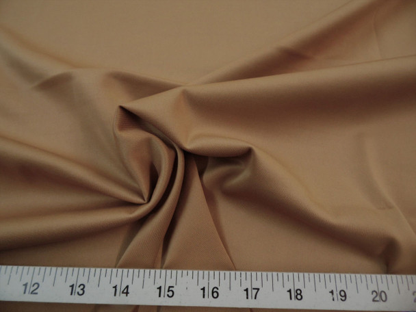 Discount Fabric Techno Scuba Polyester Spandex 4 way Stretch Camel 12TS