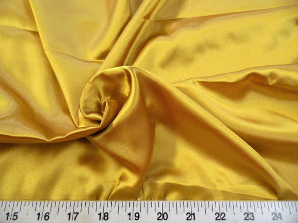Discount Fabric Charmeuse Silky Bridal Satin Apparel Gold 02CS