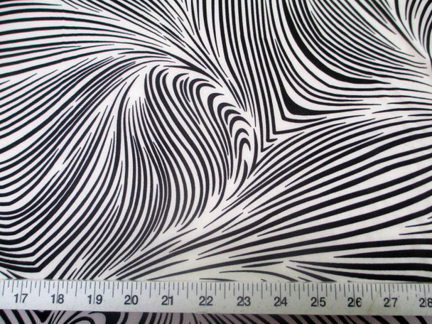 Discount Fabric Printed Jersey Knit ITY Stretch Abstract Zebra Black White 201F