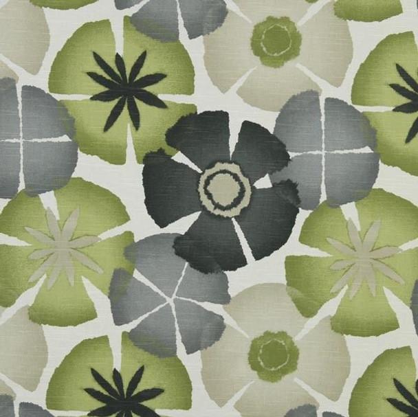 Discount Fabric Robert Allen Upholstery Drapery Pure Petals Greystone EE25