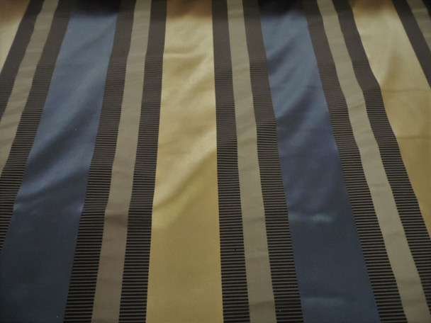 Fabric Robert Allen Beacon Hill Articallo Midnight 100% Silk Stripe Drapery *J36