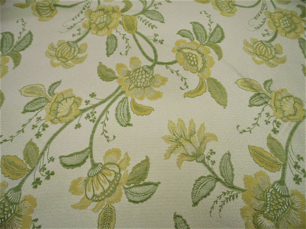 Fabric Robert Allen Beacon Hill Pennine Leaf Gold Silk Embroidered Floral *J46