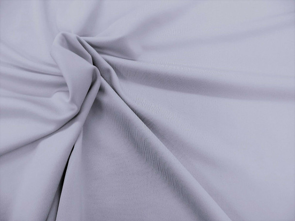Discount Fabric Polyester Lycra Spandex 4 way stretch Silver Gray 821LY