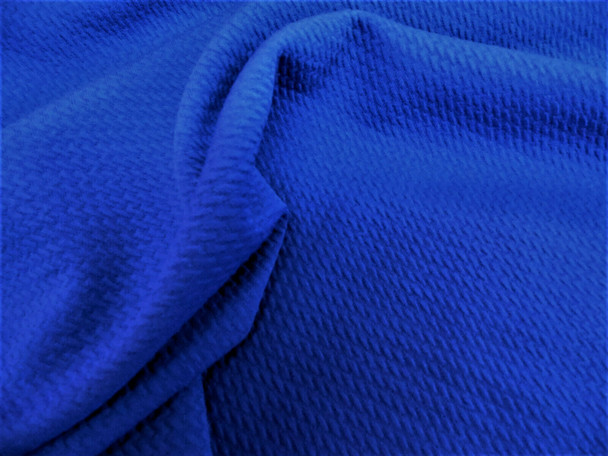 Bullet Textured Liverpool Fabric 4 way Stretch Royal Blue 12S