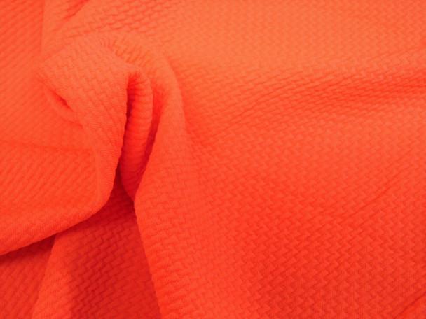 Bullet Textured Liverpool Fabric 4 way Stretch Neon Orange 31S