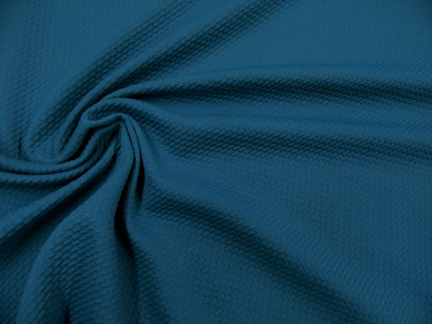 Bullet Textured Liverpool Fabric 4 way Stretch Dark Teal S38