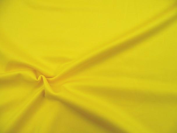 Fabric Techno Scuba Polyester Spandex 4 way Stretch Yellow TS15
