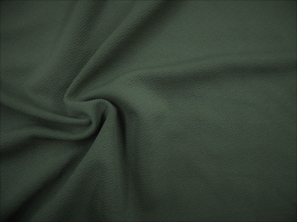 Fabric Liverpool Textured 4 way Stretch Scuba Dark Olive Green L407