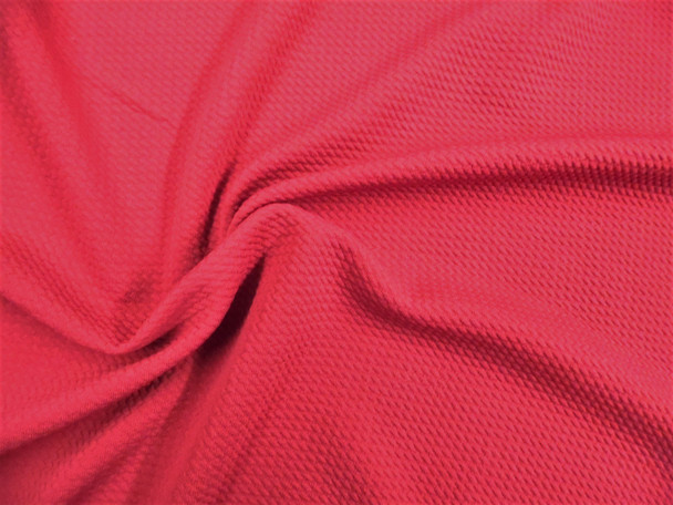 Bullet Textured Liverpool Fabric 4 way Stretch Dark Raspberry T32