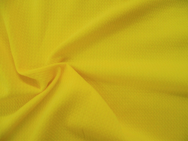 Bullet Textured Liverpool Fabric 4 way Stretch Yellow R42