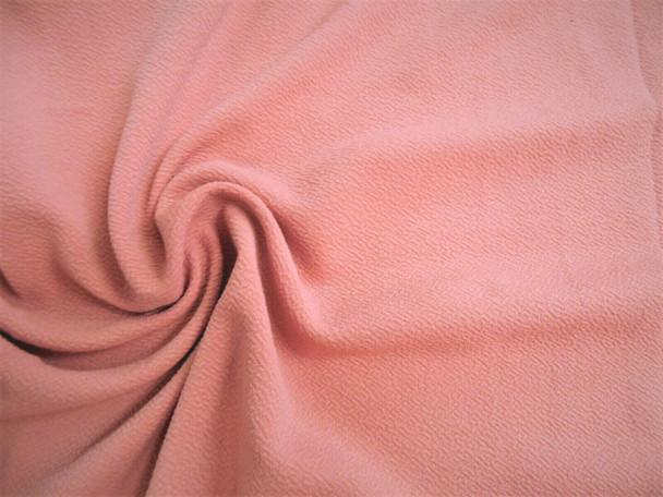 Liverpool Textured Fabric 4 way Stretch Scuba Mauve Pink L702