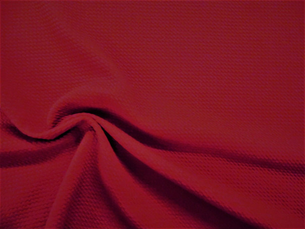 Bullet Textured Liverpool Fabric 4 way Stretch Deep Red T28
