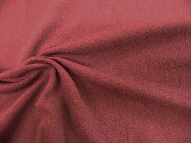 Liverpool Textured Fabric 4 way Stretch Scuba Marsala Rose K405