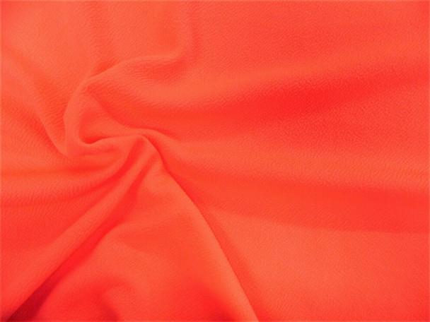 Liverpool Textured Fabric 4 way Stretch Scuba Neon Orange L201