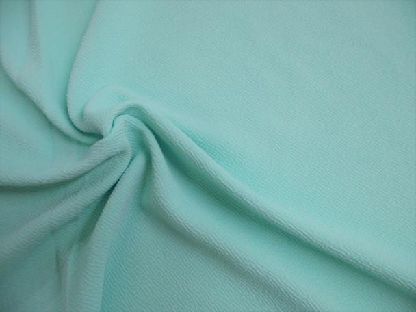 Liverpool Textured Fabric 4 way Stretch Scuba Pastel Aqua G206