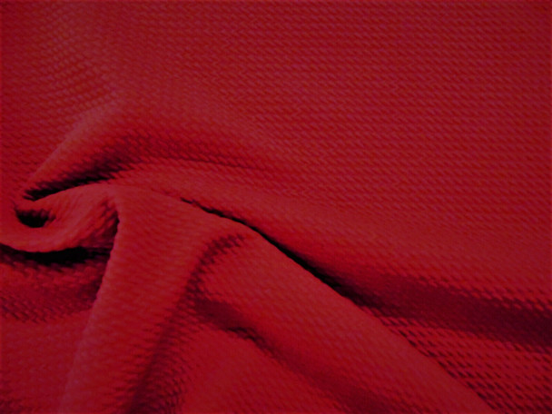 Bullet Textured Liverpool Fabric 4 way Stretch Ruby Red R20
