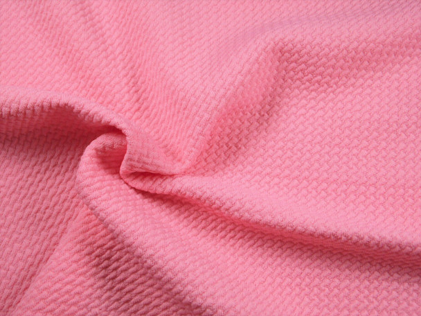 Bullet Textured Liverpool Fabric 4 way Stretch Pink Q10
