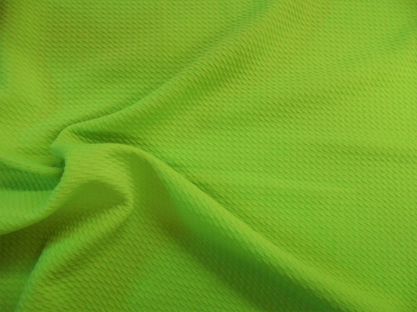 Bullet Textured Liverpool Fabric 4 way Stretch Lime Green R52