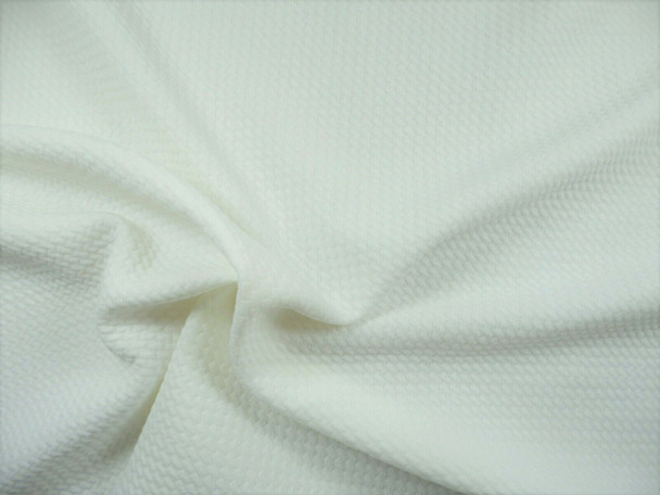 Bullet Textured Liverpool Fabric 4 way Stretch Ivory U36