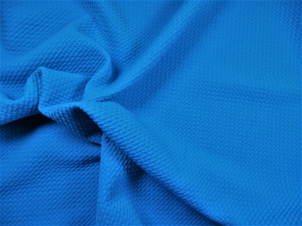 Bullet Textured Liverpool Fabric 4 way Stretch Caribbean Blue X32