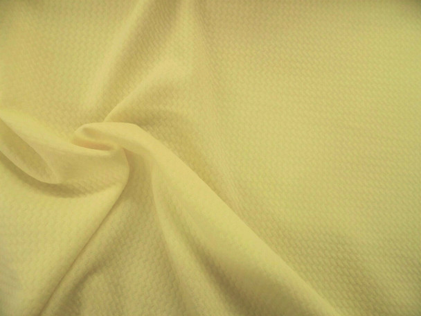 Bullet Textured Liverpool Fabric 4 way Stretch Pastel Yellow R31