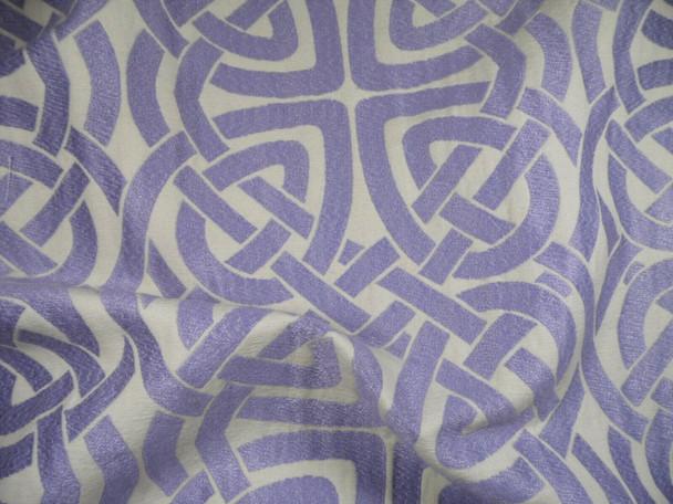 Robert Allen Beacon Hill Fabric Pleated Iris Lilac Upholstery Drapery JJ28