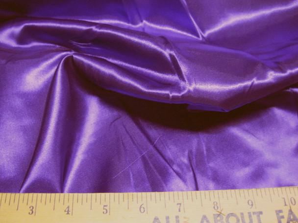 Discount Fabric Satin Purple 65 inches wide 21SA